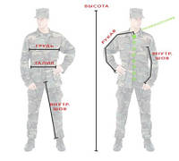 Таблицы размеров камуфляжной формы стран НАТО.