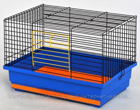 Клетка Кролик -мини для грызунов, неразборная 470х300х300мм