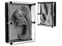 Подарок Пин арт Гвоздики 3D, pin art 3d, экспресс-скульптор Гвозди ART-PIN, маленькие, фото 1