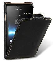 Кожаный чехол Melkco для Sony Xperia E Dual C1605 C1505 черный