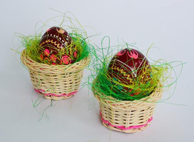 пасхальные яйца, деревянные писанки