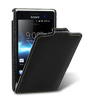 Кожаный чехол Melkco для Sony Xperia Go ST27i  черный, фото 1