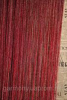 Нитяные шторы с люрексом (бордовый с серебрянным люрексом)