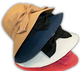 Шляпка для девочки соломенная