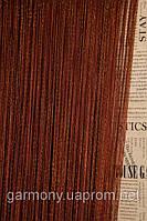 Нитяные шторы с люрексом (корисневый с серебряным люрексом)