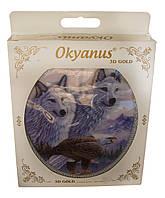 """Крышка для унитаза твёрдая  """"OKYANUS"""" 3D GOLD в кор."""