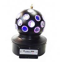 ТОП ВЫБОР! Вращающийся диско Шар Music Ball K1 светодиодный для вечеринок с флешкой и пультом 1001152 диско шар, вращающийся диско шар, светодиодный