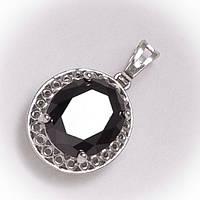 Кулон черный камень