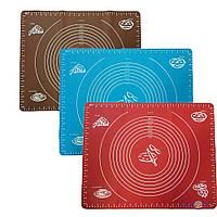 Силіконовий килимок для розкатування тіста і випічки 38х46 см., 1001852, 0