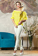 Женская желтая блуза  2138 Seventeen 42-48 размеры