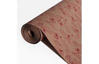 Крафт-бумага Гофре (в гармошку) подарочная Красные тюльпаны на крафте 10 м/рулон