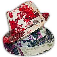 Шляпка- челентанка с цветами