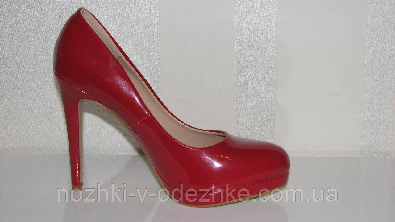 Женские нарядные красные туфли на шпильке высоком каблуке 36-39 - Интернет  магазин