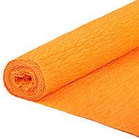 Бумага Жатая,Гофрированная Оранжевая  2М\0.5М