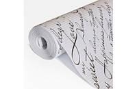 Крафт-бумага Гофре (в гармошку) подарочная Черное письмо на белом фоне 10 м/рулон