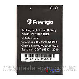 Аккумулятор Prestigio MultiPhone 3400 Duo / PAP3400 DUO (1500 mAh)
