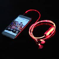 Cветящиеся наушники в такт с музыкой Lighted Earphone 1001040