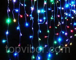 LED гирлянда Дождь на 600 лампочек 2х2.м разноцветная