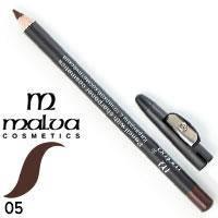 Malva - Карандаш M-313 дерево с точилкой для глаз Тон 05 chocolate матовый
