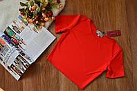 Женский топ короткий (футболка) однотонная  6 цветов