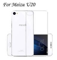 Силиконовый прозрачный чехол для Meizu U20