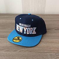 Кепка реперка New York (Blue 2)