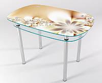 Стол стеклянный кухонный КТ 04