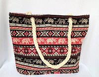 Пляжная текстильная летняя сумка для пляжа и прогулок Индия орнамент