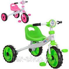 Трехколесный велосипед PROFI KIDS (M 3254) с пенополиуретановыми колесами (Зеленый)