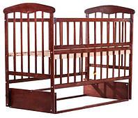 Кровать Наталка с откидной боковушкой и маятником Ольха темная, фото 1