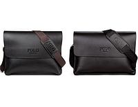 Мужская кожаная сумка Polo Videng A4 2 цвета