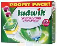 Таблетки для посудомийки Ludwik Ultimate Power  / 30 шт / 7 уп /