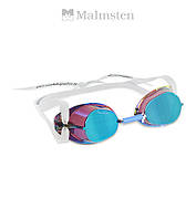 "Зеркальные очки ""шведки"" для плавания Malmsten Metallized (Blue Oil)"