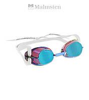 "Распродажа! Зеркальные очки ""шведки"" для плавания Malmsten Metallized (Blue Oil)"