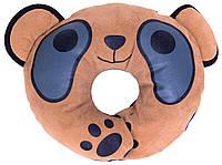 Подголовник-подушка Baby Shield синяя - коричневая