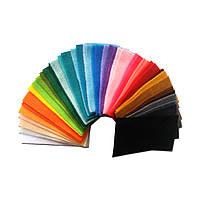 Образцы мягкого фетра 1.3 мм Royal Тайвань, 10х5 см, 42 цвета