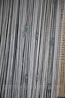 Веревочные шторы с тройным стеклярусом  серый  (07)