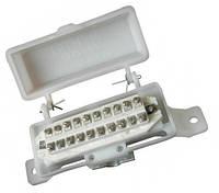 КРТМ-10х2 - Коробка распределительная телефонная с винтовым плинтом, пластиковая, без замка, типа  КРТ-10