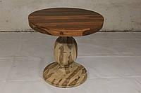 Стол круглый WDN BASE TABLE Costantini в стиле Модерн. Ценная порода дерева. Ручная работа. Сделано в Индии.