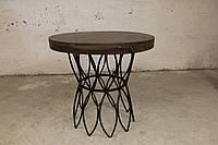 Стол круглый IRON BASE TABLE LOFT в стиле Лофт. Ценная порода дерева. Ручная работа. Сделано в Индии.
