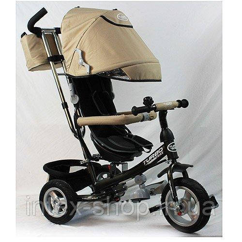 Трехколесный велосипед Turbotrike Бежевый (M 3452-4FA) с поворотным сиденьем