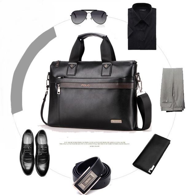e34dbdceaa59 Мужская кожаная сумка портфель Polo Videng A4 2 цвета, цена 599,25 ...
