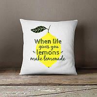 Декоративная подушка с  мотивацией