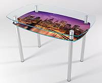 Стол стеклянный кухонный КТ 05