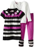 Фирменный костюм тройка из туники, реглана, штанов на 1 год