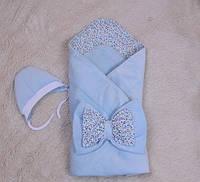Конверт-одеяло на выписку из роддома Vintaj (голубой)