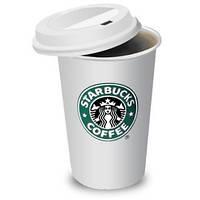 Термокружка Starbucks керамическая с силиконовой крышкой