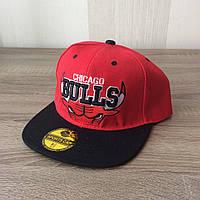 Кепка реперка  Chicago Bulls (Red & Black)