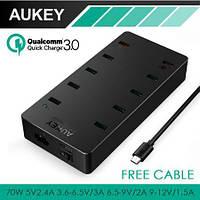 Aukey PA-T8 - 10-ти портовая зарядная станция c быстрой зарядкой Quick Charge 3.0