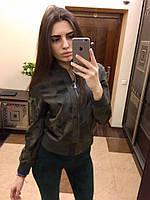 Куртка милитари эко-кожа